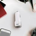 10 Watt 2.1 Amp Dual USB Car Charger-WHITE