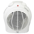 Vie Air 1500W Portable 2-Settings White Fan Heater with Adjustable Thermostat