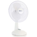 Impress 12 Inch 3 Speed Oscillating Table Fan in White