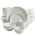 Gibson Home Ogalla 30 Piece Porcelain Dinnerware Set in White