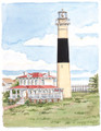 "Absecon Lighthouse - 7"" x 9"" Fine Art Print"