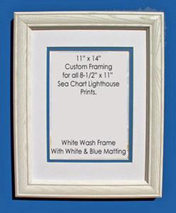 8 12 X 11 Prints Custom Framed In 11 X 14 White Washed Wood