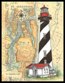 St. Augustine Sea Chart Lighthouse