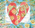 "Flip Flops - Red Flip Flops - 8"" x 10"" Fine Art Print"