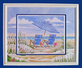 """Oceanview Two Custom Framed 24"""" x 30"""" with Dimensional Matting"""