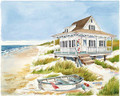 Beach Cottage & Boat (Large)