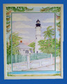 ON SALE! Key West Lighthouse with Hand Painted Matting