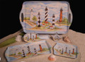 Serving Trays - 6 Piece North Carolina Lighthouse Set