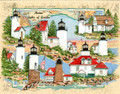 Acadia National Park Sea Chart Collage