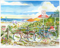 No Bicycles on Beach 8 x 10
