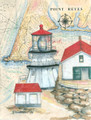Point Reyes Sea Chart Light Original Painting