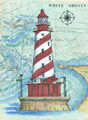 White Shoals Sea Chart Light Original Painting