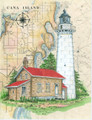 Cana Island Sea Chart Light Original Painting