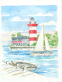 Hilton Head Island's Harbourtown Lighthouse by Donna Elias