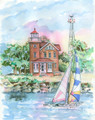 South Bass Island - Maritime Watercolors Original Painting