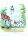 New Presque Isle - Maritime Watercolors Original Painting