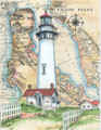 Pigeon Point Sea Chart Light Original Painting