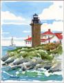 Beaver Tail Lighthouse