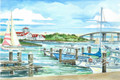 "Gardner's Basin, Atlantic City - 8"" x 10"" Fine Art Print"