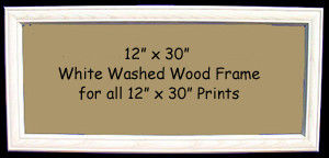 12 X 30 Prints Custom Framed In White Washed Wood Frame Donna