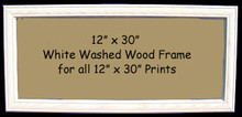"12"" x 30"" White Washed Wood Frames for 12"" x 30"" Prints"