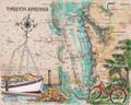 "Tarpon Springs Island Sea Chart - 24"" x 30"" Fine Art Print"