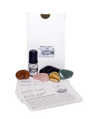 The White Light Essential Oil Set is ideal to have on hand when you need help most - when you are emotional or irritated and you still need to be effective, when you want to help, and you don't quite  know the right way to help, etc    With this set you receive inspirational guidance on how to quickly change your mood, emotions, and dissipate mind chatter. In addition, the more you use this set, the more you will be able to be spontaneous, creative, effective, less affected by negativity, and most importantly, you will notice how much you love yourself.