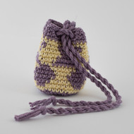 Purple and Yellow  Hexagon Pattern Single Oil Pouch - SOLD