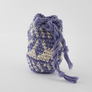 Purple and White Abstract Diamonds Pattern Single Oil Pouch - SOLD