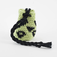 Light Green and Black Small Diamond Pattern Single Oil Pouch