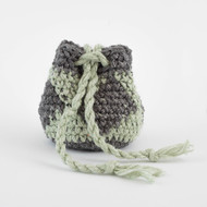 Gray and Light Green Sparkle Diamond Pattern Three Oil Pouch