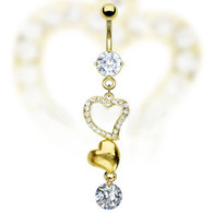 GDPN10412 GOLD PLATED BELLYRING