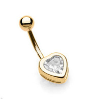 GDPN-003 GOLD PLATED BELLYRING