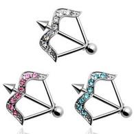 Nipple Ring Bar KQ-0004