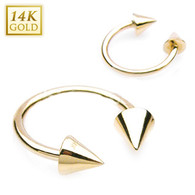 GDH02 14KT Yellow Gold Horse Shoe 5X5mm Cones