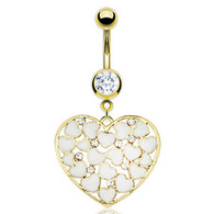 GDPN11467 GOLD PLATED HEART BELLYRING