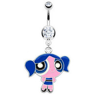 NAL12484 Colored Sweet Girl Character Dangle Bellyring