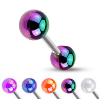 BAD-1103 Barbell with Metallic Coated Acrylic Ball
