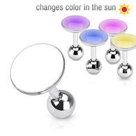 JD-15 Tragus/Cartilage Barbell with Glow In the Sun Top