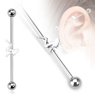 BSP23 Surgical Steel Sexy Girl Industrial Barbell