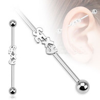 """BSP85 Surgical Steel """"Sexy"""" Industrial Barbell"""