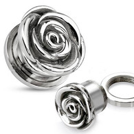 PSZ63 Screw-Fit Rose Tunnel Plug