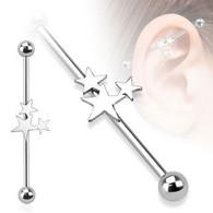 BIA01 Three Stars Industrial Barbell