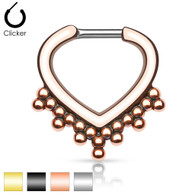 SEP-38 Beaded Trim IP Septum Clicker