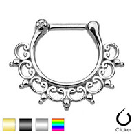 SEPS-03 Lace Tribal Fan Septum Clicker