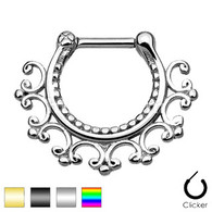 SEPS-05 Laced Edge Tribal Septum Clicker