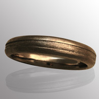 18K yellow gold and silver men's wedding band.  5mm wide