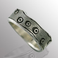 Silver men's ring.  6.5mm wide.