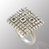 Sterling silver and 18K yellow gold ring with 6pt. diamond.