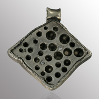 Silver pendant with blackener and 10pt. diamond.  29.7X30.7mm.